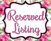 Reserved Listing for Ruthel
