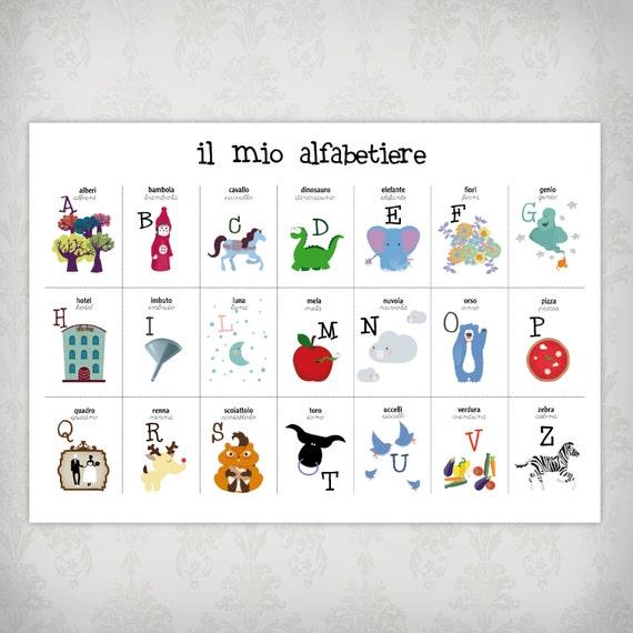 Exceptionnel alfabetiere italiano alfabeto italiano lettere alfabeto OD29