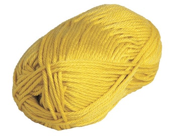 Knit Picks Mighty Stitch Bulky Yarn, Wool, Acrylic, Bulky #5, Color - Canary