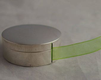 Rare Vintage Sterling Silver Ribbon Box