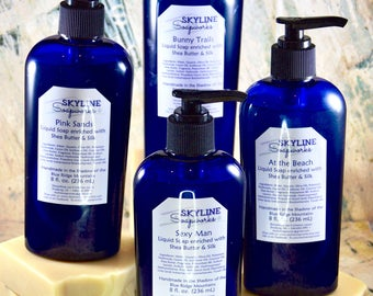 Liquid Soap Dispenser - Liquid Soap - Hand Soap - Handmade Soap - Liquid Hand Soap - Handcrafted Soap - Shower Gel - Body Wash - Natural