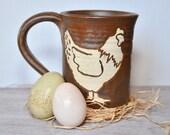 Chicken Mug in Cinnamon