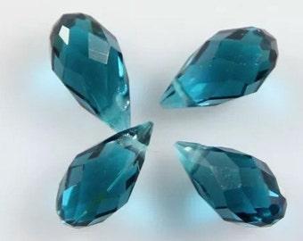 Swarovski briolette teardrop crystal beads 6x12mm