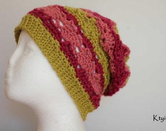 Bonnet femme été - Crochet Slouchy summer