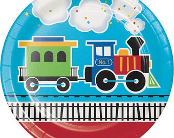 My Choo Choo Train party Lunch plates / train theme / train party / railroad party /