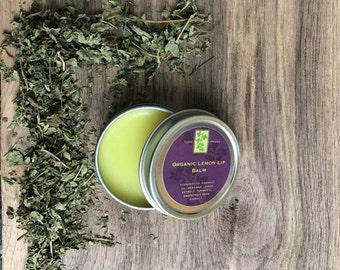 Lemon Lip Balm 1 oz. 100% Organic