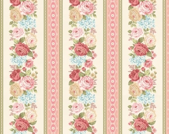 Peaceful Garden Striped Fabric Henry Glass-8697