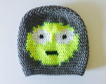 Crochet Slouchy Hat | Surprised Emoji | iHat v1.0