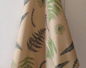 Green fern tea towel - green fern kitchen towel - ferns on olive green background - in 100% cotton