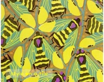 Art Deco Eugene Seguy Bumblebee Insects large ceramic tile trivet kitchen bathroom walls splash backs fireplace tile plant stands