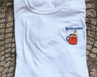 Bloody Mary Embroidered T Shirt