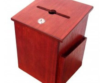 Fixture Displays® Donation Box Suggestion Box Charity Box Ballot Box  Collection Box 6-3/4''W x 9-7/8''H x 6-1/2'' D 1040S-IMS