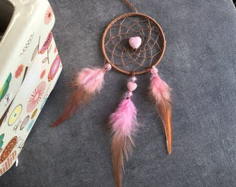 Pink and Brown Girl dream catcher