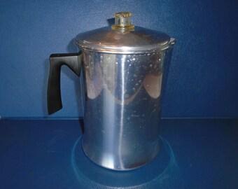 Vintage Mirro stovetop Coffee Percolator. 14 cup.  Coffee Percolator . Percolator . Coffee pot.  coffee maker