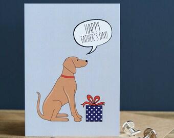 Vizsla Father's Day card