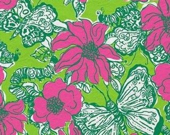 Bllooming Cocoonin cotton poplin 9 X 18 or 18 X 18 inches ~Lilly Pulitzer~