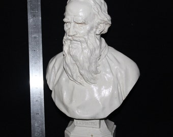 Vintage bust LEV TOLSTOY USSR Russian writer Plaster Bust
