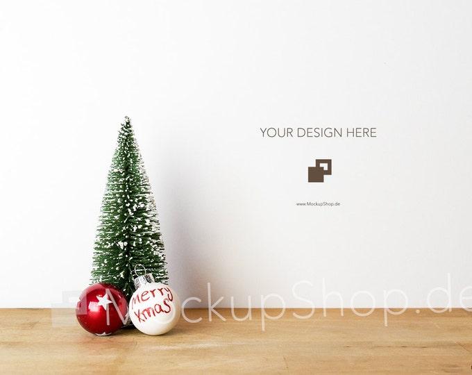 CHRISTMAS MOCKUP 6000x4000 Pixel / Santa Claus and wooden star / Merry Christmas Mockup / Merry Xmas Mockup / Santa Claus Mockup