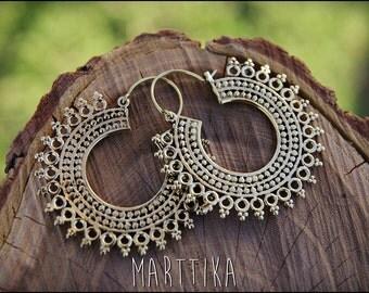 Earrings bronze. Earrings tribal ethnic style. Boho earrings.