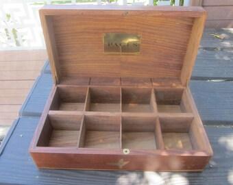 Vintage French Wood Marqueterie Box Collection >Art & Antiquités Boîte en bois pour Thé Marqueté Marquetry/ Coffret