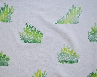 Hand Printed Cactus Tea Towel