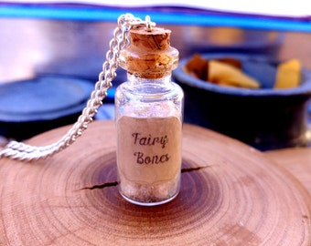 Fairy Bones Potion Bottle Charm Necklace - Potion Bottle Charm - Fairy Tale Jewelry - Faeries - Fairies - Once Upon A Time - Magic Spells -