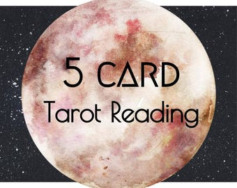 tarot reading, 5 card tarot reading, tarot card reading