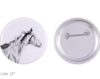 Buttons with a horse -Thoroughbred