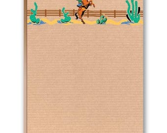 Old Fashion Cowgirl Western Note Pad - Western Theme - 35032