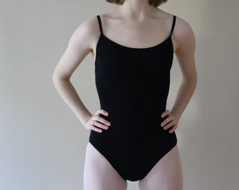 black ballet leotard