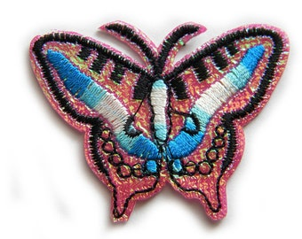 Butterfly Embroidered Patch Appliqué