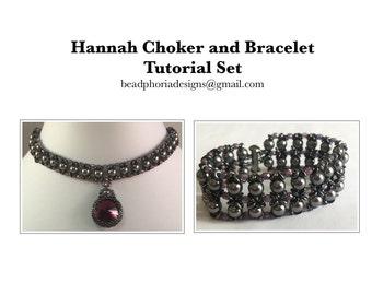 Hannah Choker and Bracelet Tutorial Set
