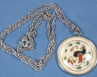 Vintage Pendant Necklace - Pennslyvania Dutch Style