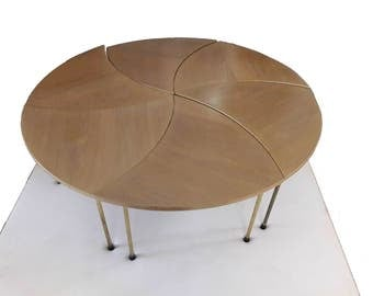 Peter Hvidt Pinwheel Coffee Table with 6 Sections John Stuart