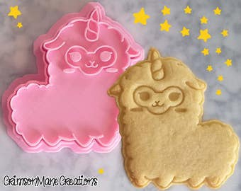 Unicorn Llama Alpaca Kawaii Cookie Cutter