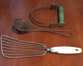 Set of 3 Vintage Cooking Utensils