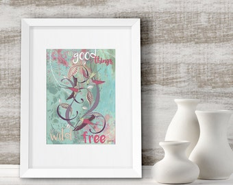 Nature lovers gift, Nature quote art print, Home decor, Inspirational quote