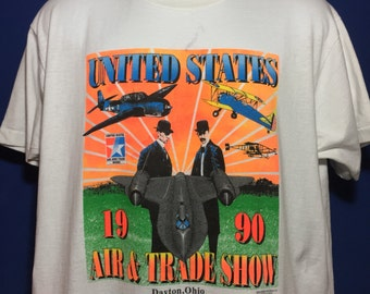 Vintage 1990 United States Air & Trade Show t shirt *L