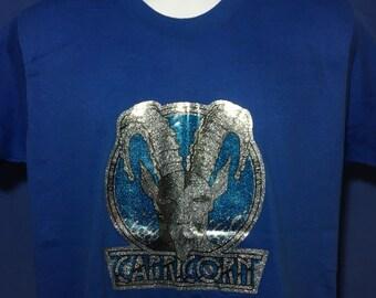 Vintage 1970s Capricorn Iron on t shirt horoscope *M
