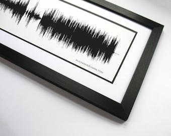 Alexander Hamilton - Hamilton Original Broadway Cast : Sound Wave Art Print - From the Hamilton Broadway Musical.