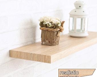 "Floating Wall Shelf 24"" Soft Grain Eco Friendly Decorative Shelving in Oak made from non-toxic zBoard LIFETIME WARRANTY (w-s24-ok)"