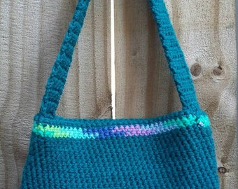 Blue Crochet Hand Bag
