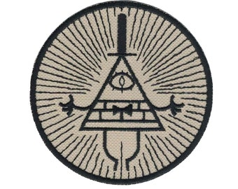 Bill Cipher From Gravity Falls Embroidered Patch Iron on Applique