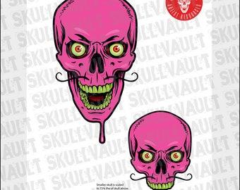 Comic Book Skull Vector Illustration - Psychic Skull