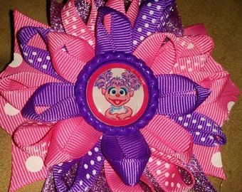 Abby Cadabby inspired loopy Botique bottle cap hairbow