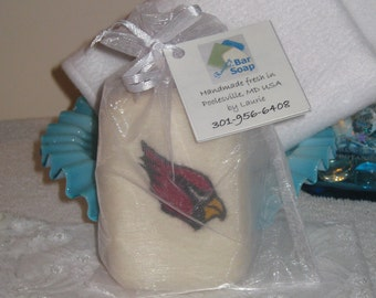 Felted Soap Red Cardinal Bird Natural Soap Bar