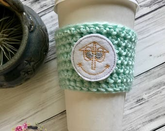 "The ""Small World"" Cozie / Cozies / Cozies / Coffee Cozie / Tea Cozie / Tumbler Cozie / Crochet Cozie"