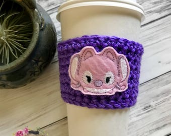 "The ""Angel"" Cozie / Cozies / Coffee Cozie / Tea Cozie / Tumbler Cozie / Crochet Cozie"