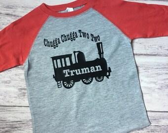 Chugga chugga two two, Choo choo train birthday shirt, train t-shirt, train shirt, train birthday shirt, 2nd birthday shirt,