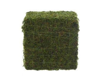 Display Moss Mat Artificial Grass Cube Flat Fake Synthetic Grass 20cm x 20cm x 20cms long